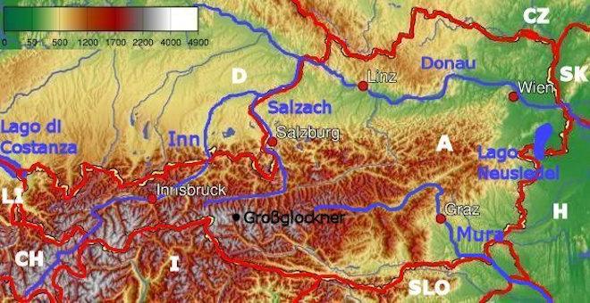 Cartina Del Austria.La Geografia Dell Austria