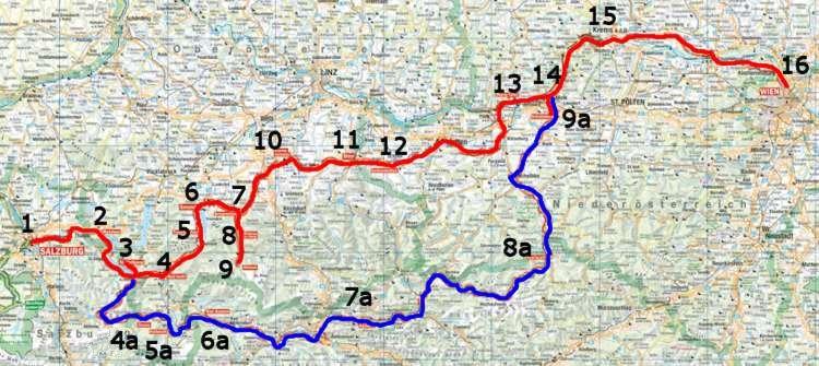 Cartina Austria Stradale.La Strada Romantica Dell Austria
